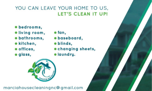 Marcia's House Cleaning Business Card